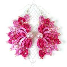 #summer #colorful #color #wheel #rainbow #art #jewelry #jewellery #beads #swarovski #crystals #pearls #bracelet #ellace #fashion #women #thread #handmade #design #earrings #necklace #lace #tatting #love #wedding #luxury #3d by ellace.handmade