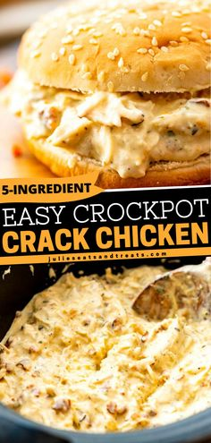 Take out your crockpot and prepare for this easy weeknight dinner recipe. This Crack Chicken is a delicious combination of shredded chicken, cream cheese, Ranch seasoning, cheese, and bacon! Squeeze in this delicious treat tonight! Best Crockpot Recipes, Slow Cooker Recipes, Cooking Recipes, Crockpot Meals, Slow Cooker Casserole, Slow Cooker Soup, Casserole Recipes, Pulled Pork Recipe Slow Cooker, Shredded Chicken Recipes