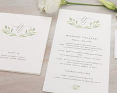 The Eucalyptus Wedding Collection by Paper Daisies, Save the Dates, Whimsical… http://paper-daisies.com/shop/index.html
