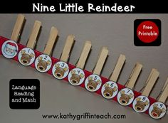 Christmas Reindeer Poem and Fine Motor Activity for Preschool and Kindergarten.