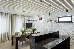 """""""Мятая стена"""" в кухне из гипсовых 3D панелей Interior, Gallery"""