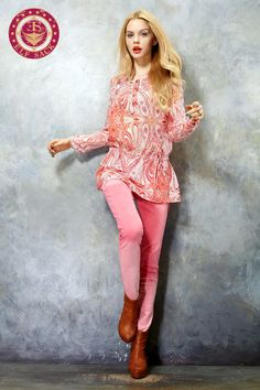 Womens Spring Beautiful Baroque Pattern Mulberry Red Silk Blouses Girls Clothes