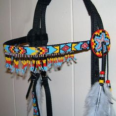 American Indian Horse Headstalls   ... american beadwork patterns and designs   Beaded Parade Horse Headstall