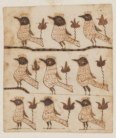 Works on Paper - Fraktur - Winterthur Museum You Draw, Naive Art, Medieval Art, Outsider Art, Heart Art, Bird Art, Pottery Art, Art Forms, Folk Art