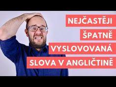 (95) Nejčastěji špatně vyslovovaná slova v angličtině - YouTube Channel, English, Youtube, Origami, Fitness, English Language, Paper Folding, Keep Fit