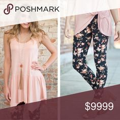 COMING SOON! Floral Print Leggings Floral print leggings.  These are one size. (Fits size 2-12 comfortably)  Fabric Content: 92% polyester, 8% spandex Pants Leggings