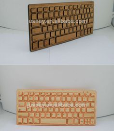 wooden keyboard bluetooth/wireless bamboo bluetooth keyboard for mobile phone