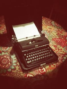 Vintage Royal Quiet De Luxe Typewriter with Carry by girlUPcycled