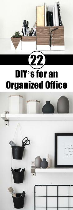 22 DIY's for an Organized Office
