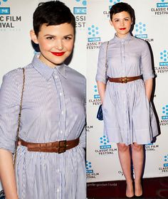 I actually like what she's wearing and her dress. Ginnifer Goodwin at a TCM event