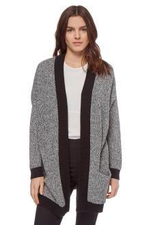 Casaco de lã<BR>Cinzento mesclado