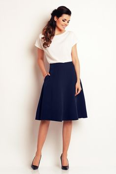 Navy Blue Awama Skirts