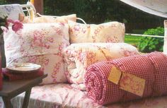 Luscious quilts & cushions by Cabbages & Roses