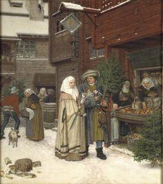 Photo Mug-The Christmas Fair , Creator: Rosen, Georg von White ceramic mug made in the USA Fine Art Prints, Canvas Prints, Framed Prints, Ballet Russe, Detailed Paintings, Photo Mug, Canvas Paper, Modern Artists, Oeuvre D'art