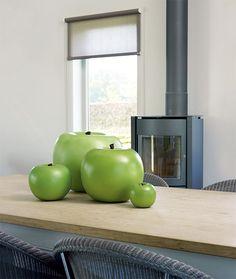Keramik-Deko-Apfel Grün Bronze Sculpture, My House, Sculptures, Sweet Home, Curtains, House Styles, Home Decor, Pop, Gifts