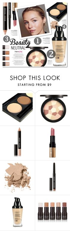"""""""NEWCHIC 6"""" by nanawidia ❤ liked on Polyvore featuring Bobbi Brown Cosmetics, neutrals, polyvoreeditorial, beautyset and newchic"""