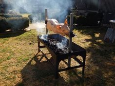 Make a Spit for Roasting Whole Pigs