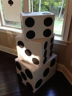 DIY giant dice for under $5 for a casino night, poker night or bunco party!