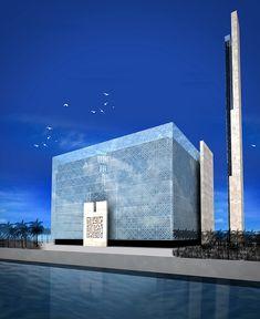 Port Ausschlag Moschee Dubai-Farouq Yaghmour Architekten – Mohammad Bsoul – Join in the world Mosque Architecture, Sacred Architecture, Architecture Board, Religious Architecture, Architecture Visualization, Concept Architecture, Amazing Architecture, Modern Architecture, Temple Design