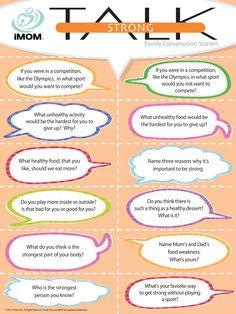 Strong Talk, Conversation Starters
