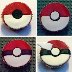 Voor Ewans achtste verjaardag met Pokemon-thema, maakte ik Pokeball cupcakes. Ik laat hier zien hoe.
