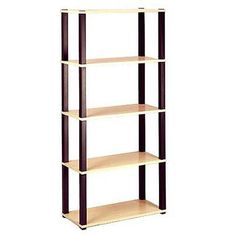 Open 5-Shelf Bookcase, Multiple Finishes