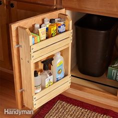Cabinet Door Storage Rack | The Family Handyman