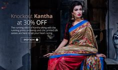 The running stitch of #Kantha is here to leave your heart racing as it gets launched!!