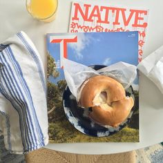 Perfect Sunday morning combo @properbagel @tmagazine @native_nashville! #weekendvibes #nashvilleliving #loveourtown @native_nashville cover art by the uber talented @alicdaniel