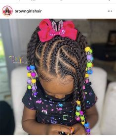 Black Kids Braids Hairstyles, Little Girls Natural Hairstyles, Cute Toddler Hairstyles, Cute Little Girl Hairstyles, Baby Girl Hairstyles, Infant Hairstyles, Toddler Braid Styles, Girls Braids, Hair Styles