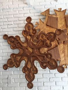 handmade large wooden snowflake winter decor