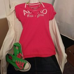 Pink Aero top Pink Aero top, never worn Aeropostale Tops