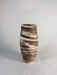 Chocolate Brown and Vanilla White Swirl Marbled Stoneware Vase by KatieTroisi on Etsy https://www.etsy.com/listing/248404793/chocolate-brown-and-vanilla-white-swirl
