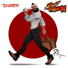 I Drew The Street Fighter 2 Characters Like A Model.