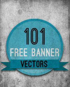http://mediamilitia.com/3d-elements-ribbons-banners-pack/ 101 Free Banner Vectors