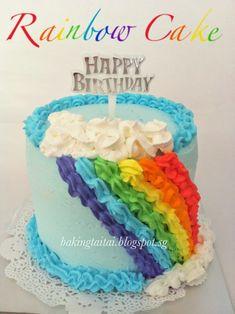 Baking Taitai 烘焙太太: Rainbow Cupcake & Cake 彩虹蛋糕 (中英食谱)