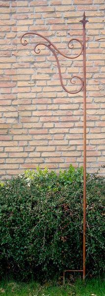 Antik Rost Stab 210cm für Blumenampel,Laterne