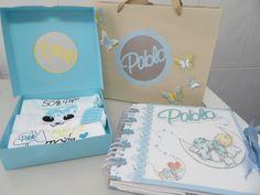 Álbum bebé niño + bolsa+ body personalizado. Con vídeo páginas interiores