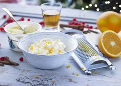 Want a showstopping brandy butter for your puds? Try this amazingly light Clotted Cream Recipes, Orange Zest, Larder, Baking Tips, Kitchen Hacks, Goodies, Lunch, Sugar, Treats