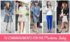 http://diamonddiploma.com/10-commandments-for-the-modern-lady/