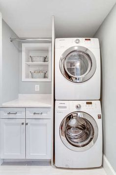 """Receive fantastic recommendations on """"laundry room storage diy cabinets"""". They are available for you on our internet site. Laundry Room Remodel, Laundry Closet, Laundry Room Organization, Laundry Storage, Small Laundry Rooms, Laundry Room Design, Laundry In Bathroom, Master Bathroom, Washroom"""