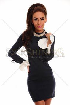 Attractive Sleeve DarkBlue Dress