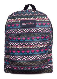 Mochila escolar Cavalier estampada boho - Enluaze Loja Virtual | Bolsas, mochilas e pastas