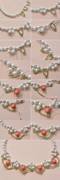 Tutorial on how to make beaded necklace and see more details from LC.Pandahall.com