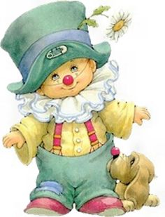 beautiful little boy by Ruth Morehead Cute Clown, Send In The Clowns, Sarah Kay, Holly Hobbie, Digi Stamps, Cute Illustration, Vintage Cards, Vintage Children, Animated Gif
