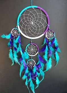 LARGE PINK PURPLE TURQUOISE DREAM CATCHER