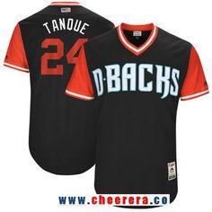 Men's Arizona Diamondbacks Yasmany Tomás -Tanque- Majestic Black 2017 Little League World Series Players Weekend Stitched Nickname Jersey