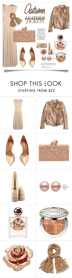 """Cool-Girl Style: Leather Jackets"" by alinepinkskirt on Polyvore featuring Valentino, Givenchy, Aquazzura, Sophia Webster, MAC Cosmetics, La Perla, Kate Spade, Lilly Pulitzer and Rebecca Minkoff"