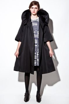 Pop up Collar Coat V2080 by THRIFTEDandMODERN on Etsy, $288.00