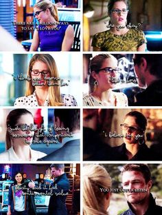 Olicity is Love on Oliver And Felicity, Felicity Smoak, Team Arrow, Arrow Tv, Dc Comics, Cw Dc, Snowbarry, Emily Bett Rickards, Arrow